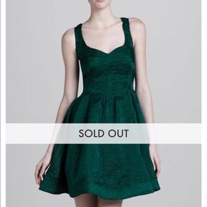 Zac Posen emerald dress
